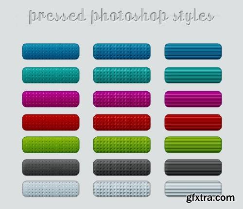 Pressed Photoshop Styles