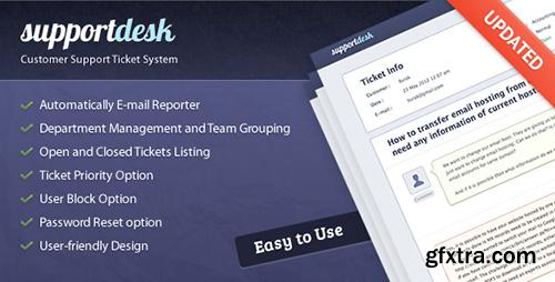 CodeCanyon - SupportDesk Customer Support Ticket System v1.4