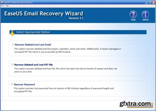 EaseUS Email Recovery Wizard 3.1 Portable