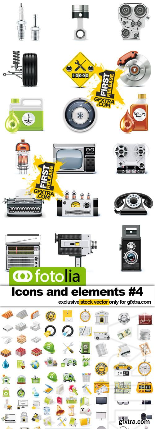 Icons and elements for design #4 - 25x EPS Fotolia