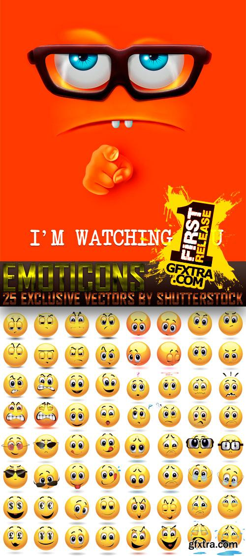Amazing SS - Emoticons, 25xEPS