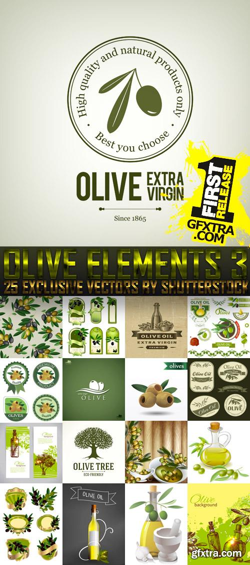 Amazing SS - Collections of Olive Elements 3, 25xEPS