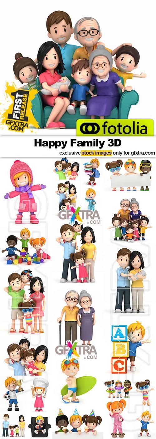 Happy Family 3D - 25x JPEGs