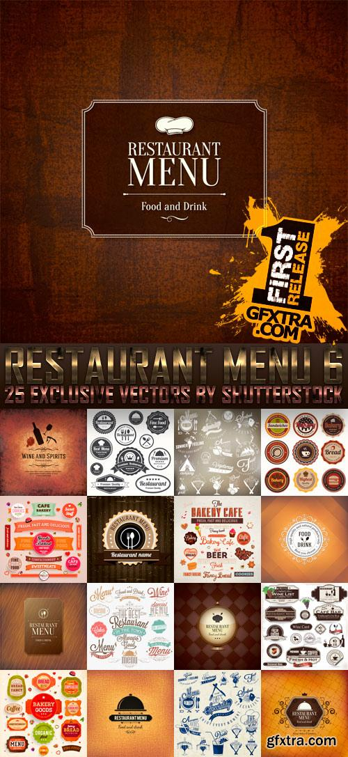 Amazing SS - Restaurant Menu 6, 25xEPS