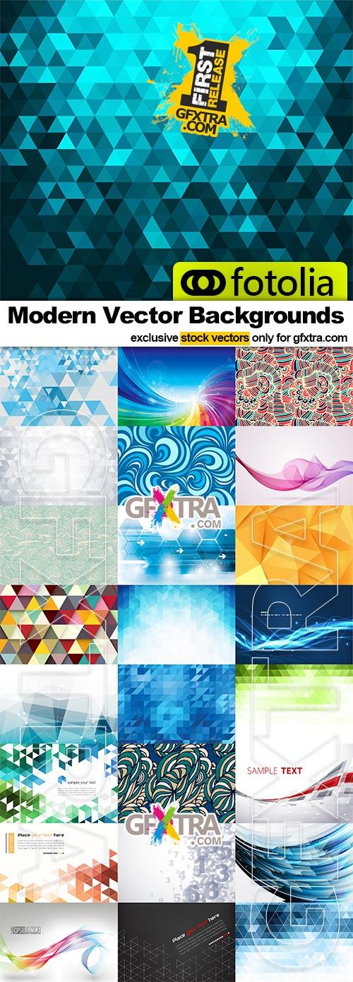 Modern Vector Backgrounds -25x vectors