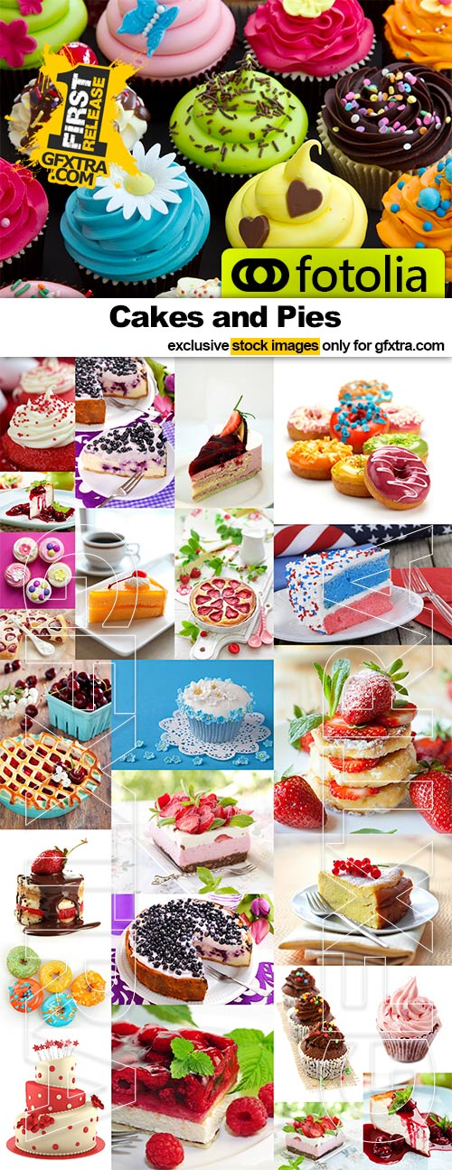 Cakes and Pies - 25x JPEGs