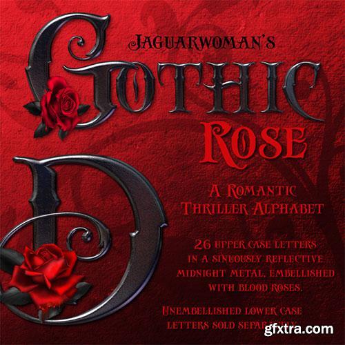 JaguarWoman's - Gothic Rose Alphabet
