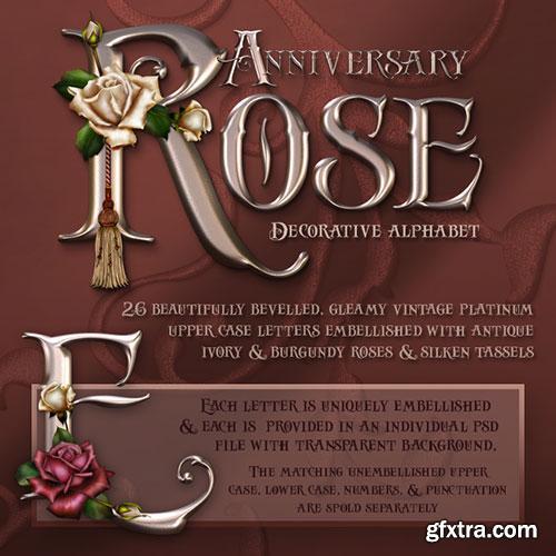 JaguarWoman's Anniversary Rose Decorative Alphabet