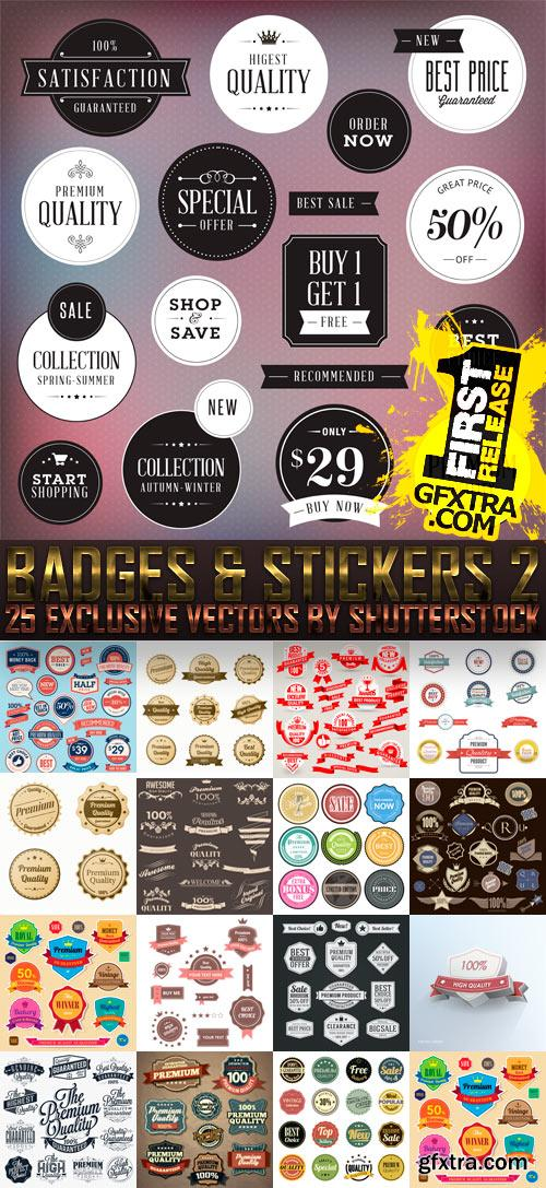 Amazing SS - Badges & Stickers 2, 25xEPS