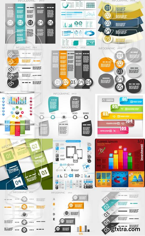 Infographic and design elements #10 - 19x EPS 6x AI