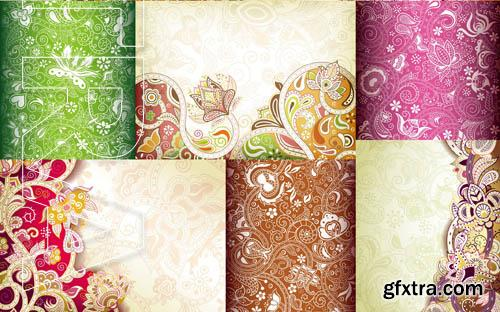Floral Abstract Background - 25x EPS