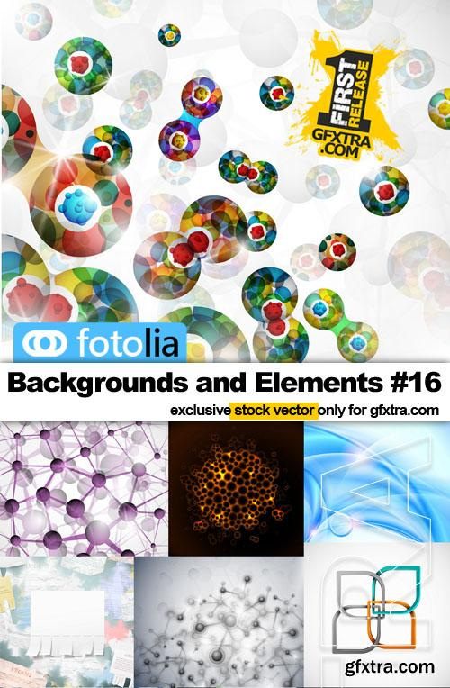 Backgrounds and Elements #16 - 25x EPS