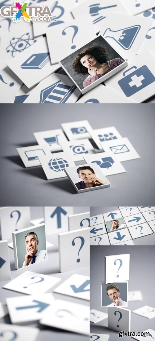 5 HQ Images Information Labels
