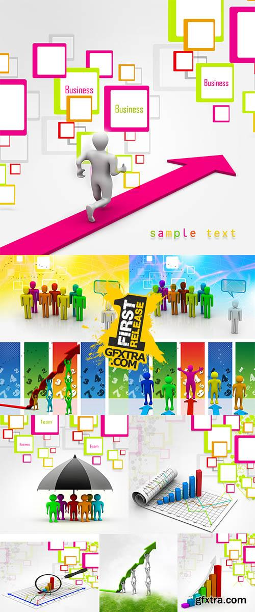 Stock Photo: Communication concept in abstract background