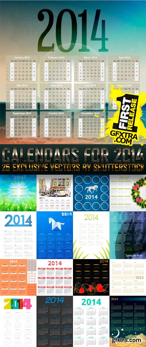 Amazing SS - Calendars for 2014 (vol. 3), 25xEPS