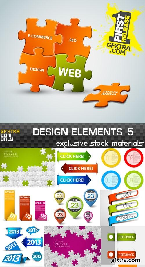 Collection of vector design elements vol.5