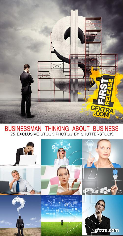 Amazing SS - Businessman thinking about business, 25xJPGs