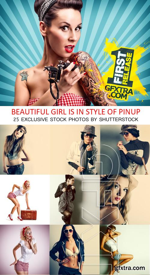 Amazing SS - Beautiful girl is in style of pinup, 25xJPGs