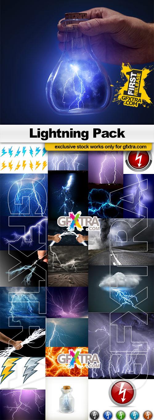 Lightning pack - 20x JPEGs + 5 Vector