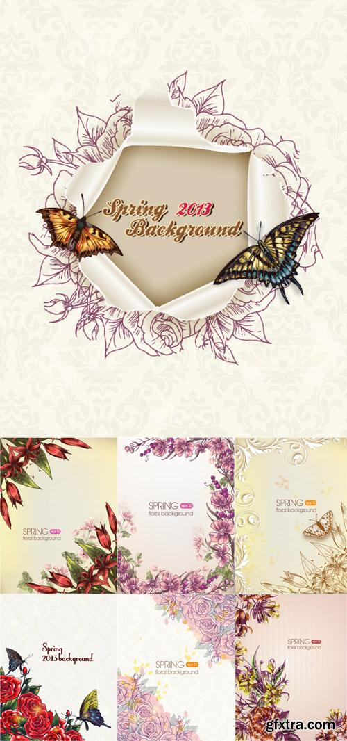 Spring Floral Illystrations Set 3