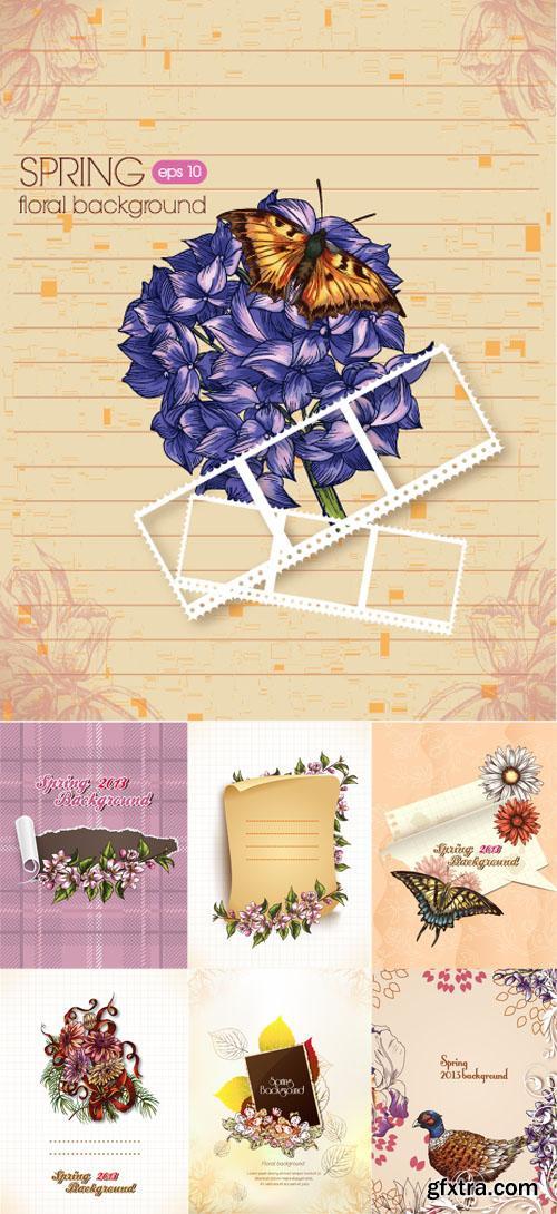 Spring Floral Illystrations Set 4
