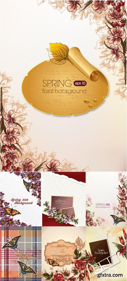 Spring Floral Illystrations Set 5