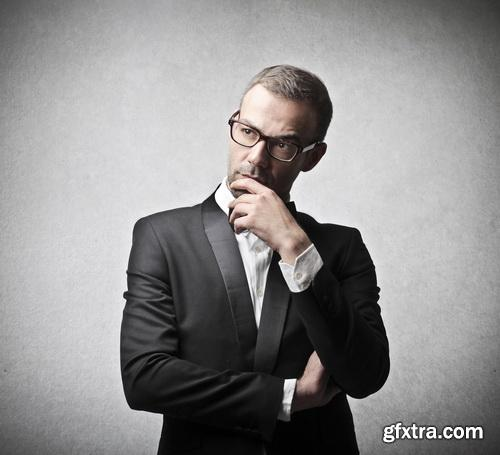 Amazing SS - Businessman thinking about business 2, 25xJPGs