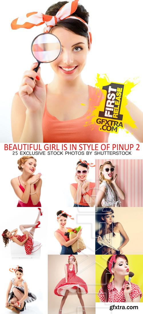 Amazing SS - Beautiful girl is in style of pinup 2, 25xJPGs