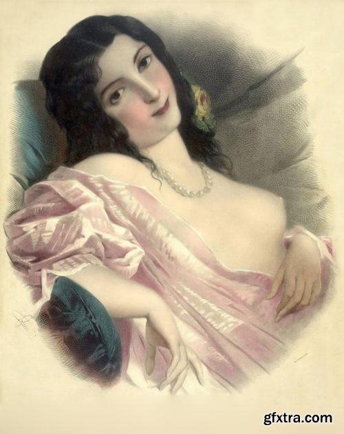 Vintage Lithographs - Josephine Ducollet 12xJPGs
