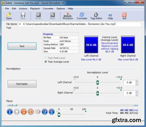 Sound Normalizer 5.6 Multilingual Portable