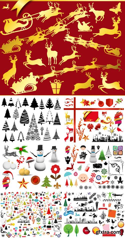 Christmas Vector and Brushes Design Set