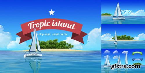 Videohive Yacht Sailing Island Travel Intro