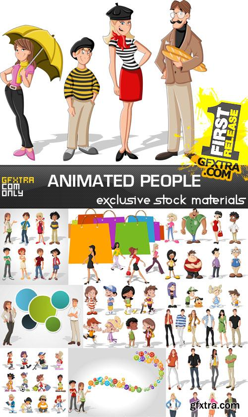Animated people collection - 25xEPS