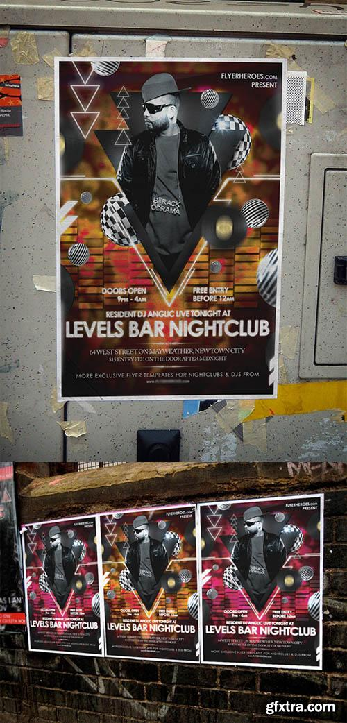 Levels Night Club Flyer Template