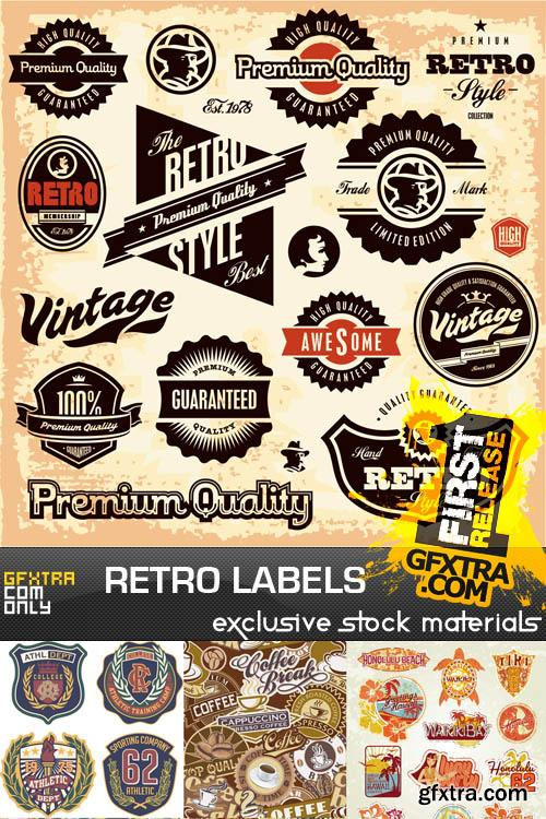 Retro labels collection