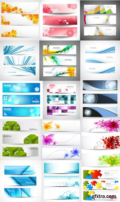 Collection of vector banners vol.6