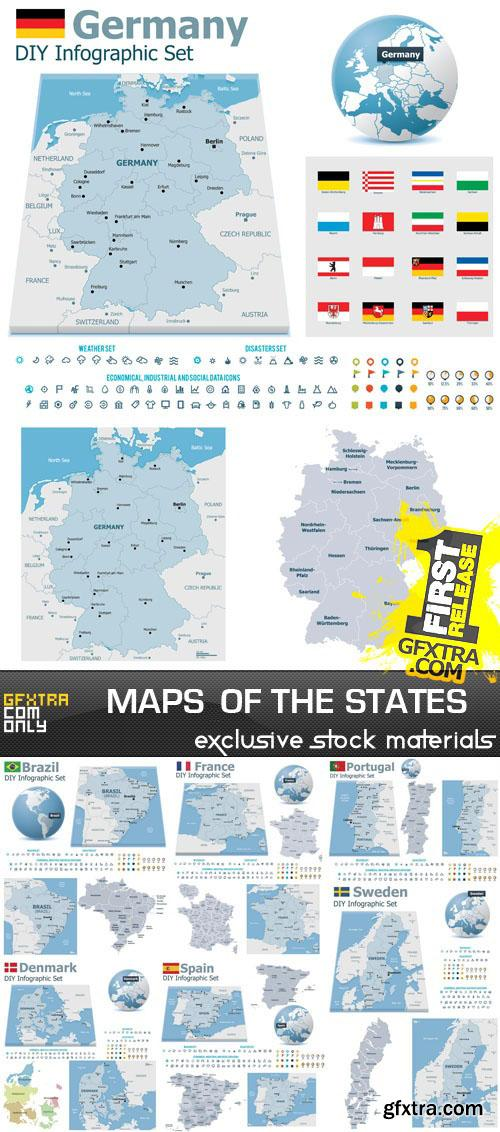 Maps of the states 25xEPS