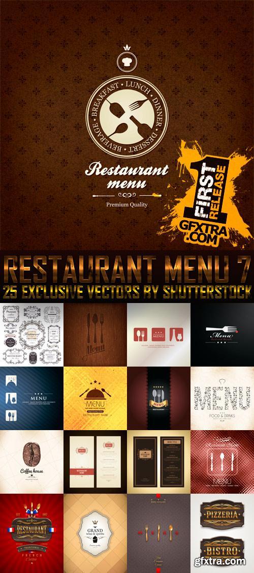 Amazing SS - Restaurant Menu 7, 25xEPS