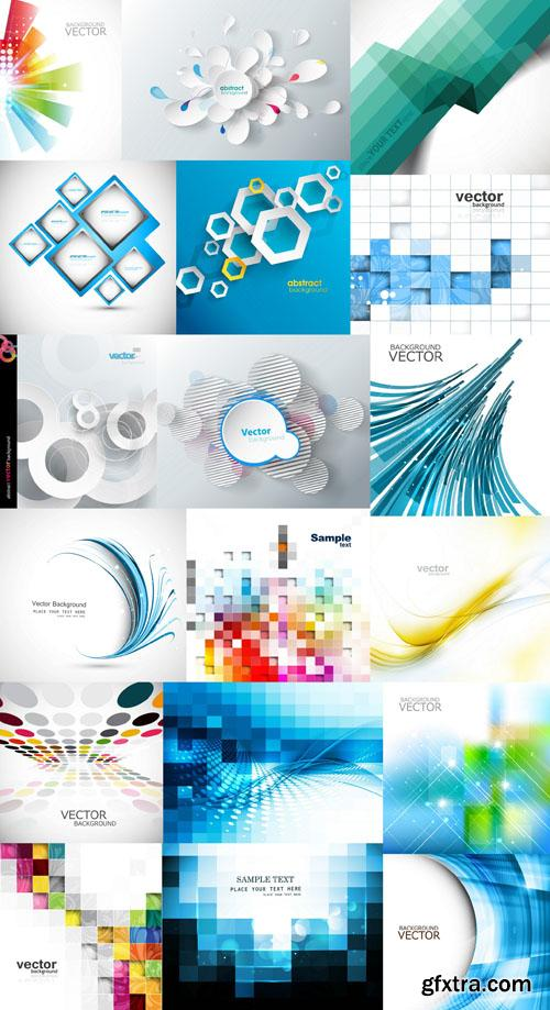 Collection of vector abstract backgrounds vol.20