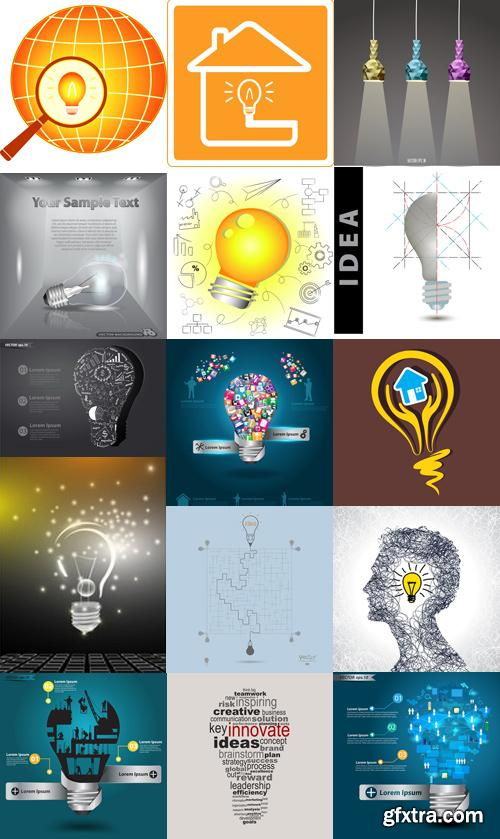 Amazing SS - Creative light bulb with construction, 25xEPS