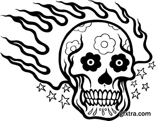 Skull's And Tatto's - Shutterstock 25xEPS