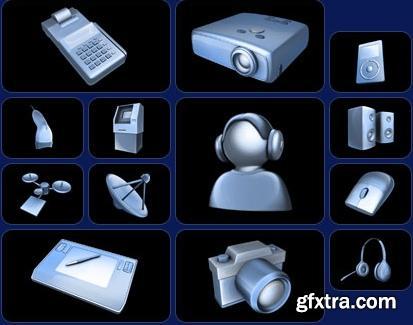 Digital Juice Print Design Elements 04 Tech Icons D1