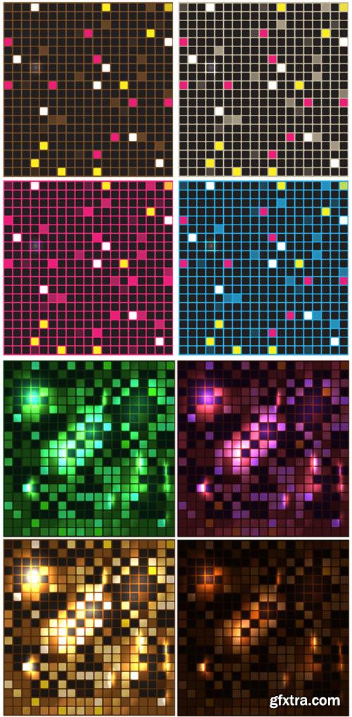 Abstract Mosaic Vector Backgrounds