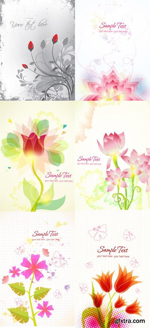 Floral Vector Illustrations Set 1