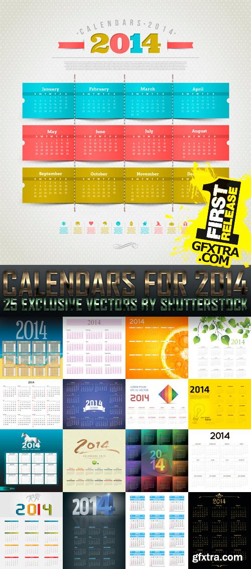 Amazing SS - Calendars for 2014 (vol. 4), 25xEPS
