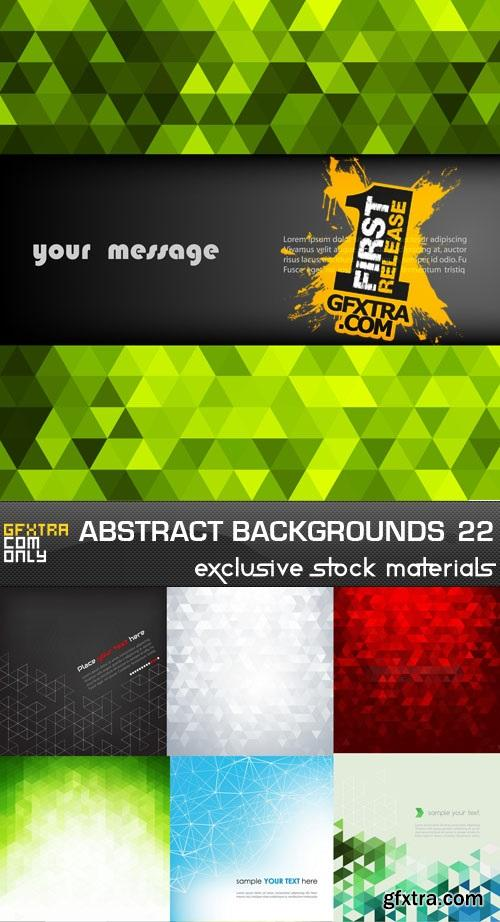 Collection of vector abstract backgrounds vol.22