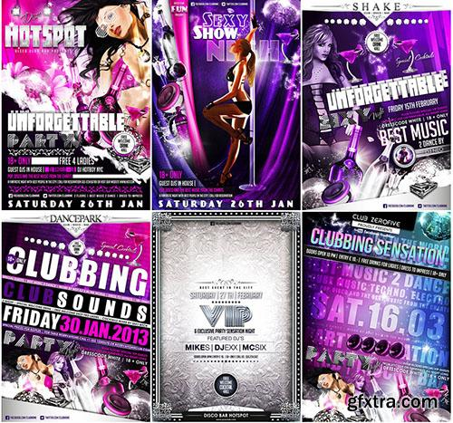 Vectorcity 30 Premium Quality Party/Event PSD Flyer Templates