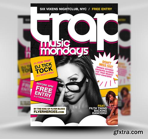 Trap Music Flyer Template
