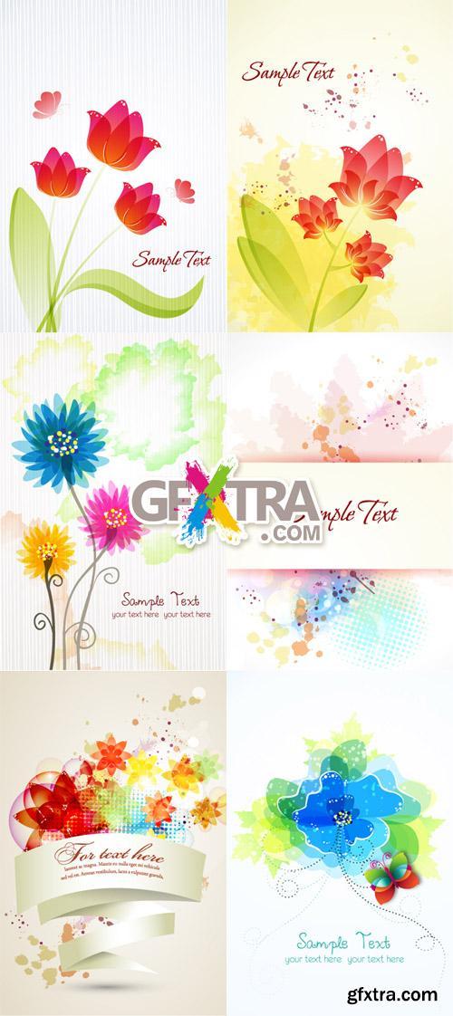 Floral Vector Illustrations Set 4