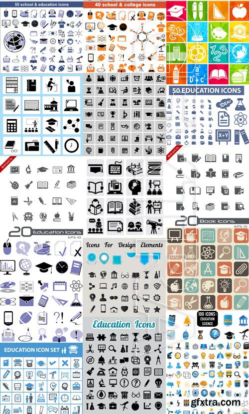 Amazing SS - New education icons, 25xEPS